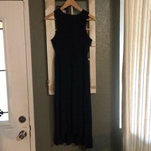 Zara Midi Dress in Midnight Blue. Size S